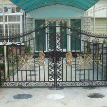 欧式别墅铁艺大门 庭院花园高档铸铁大门定制安装 河南新力