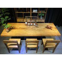 原木乌金木实木大板整块实木办公桌会议桌书桌茶桌茶台画案大班台老板桌写字台