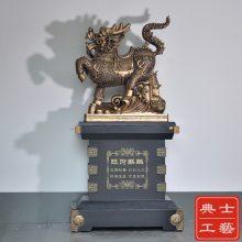 2.2米高度麒麟摆件,旺财貔貅落地大摆件制作,开业赠送的礼品,上海大摆件送货上门