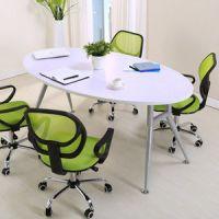 厂家直销现代简约小型会议桌 职员培训接待洽谈椭圆办公桌