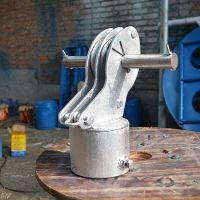 电线杆立杆机配件 分体链接三脚架 铝合金拔杆抱杆 【刻发】厂家直销