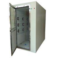 广州禄米外钢板内不锈钢单人双吹除静电型风淋室生产厂家