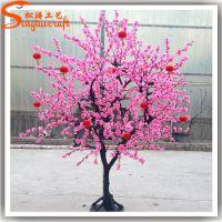 仿真桃花树价格 供应新春装饰花树 红包树 许愿树粉色桃花树