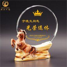 上海医护人员退休礼品,单位退休感谢牌定制,水晶陶瓷退休奖牌
