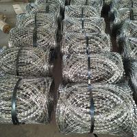 安平旭恒刀片刺绳厂生产防护用的镀锌刀片刺绳-不锈钢刀片刺绳