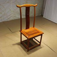 中式靠背椅 巴花奥坎鸡翅木实木简约餐椅办公椅红木家具批发现货