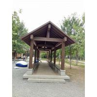 碳化木凉亭、碳化木亭子、碳化木栈道13670133845