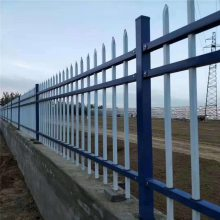 大型工厂外墙护栏 企业围墙设计 锌钢护栏厂家