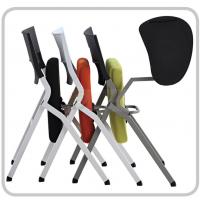 厂家直销时尚会议椅带写字板培训椅移动办公椅职员椅网布椅子