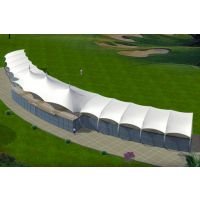 厂家供应PVDF景区张拉膜棚网球场遮阳棚羽毛球场膜结构高尔夫球场景观棚