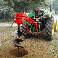 大型加长螺旋钻坑机 富兴厂家可订做高效拖拉机挖坑机