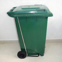 献县鑫建供应户外塑料分类垃圾桶 户外脚踏垃圾桶小区 240升120升 物业垃圾桶