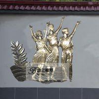 玻璃钢仿铜校园人物雕塑放飞梦想主题城市广场公园园林景观摆件