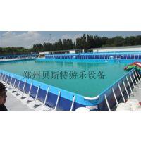 支架游泳池厂家推荐郑州贝斯特游乐水循环设备