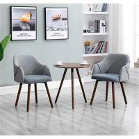 北欧现代简约实木餐椅布艺阳台餐厅桌椅组合咖啡厅靠背扶手书桌椅