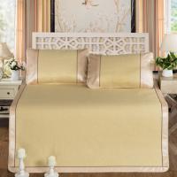 提花冰丝席 可水洗可折叠夏日凉席三件套 天然植物纤维素纤维面料