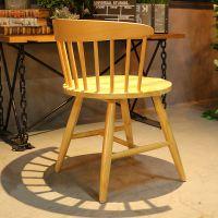 麦德嘉MDJ-ZT04温莎围椅带扶手北欧全实木餐桌椅主题餐厅椅子