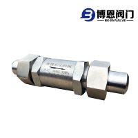 江苏博恩不锈钢高压止回阀 天然气高压单向阀 焊接式止回阀