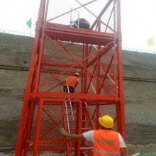 建筑安全爬梯桥墩施工爬梯通达设备齐全支持订制