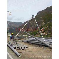 全国10米电线杆起杆器 坡地线杆立杆机厂家 三角扶杆机
