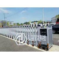 石龙单位电动大门/不锈钢伸缩门安装定做/遥控平移门厂家直销