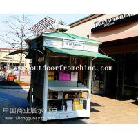 厂家直销徐州商业街实木防腐花车 移动小卖部 活动促销车