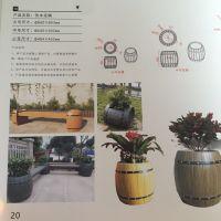 中达新型建材专业供应钢筋混凝土水泥仿木花桶,组合式景观花盆,坚固耐用,防腐蚀