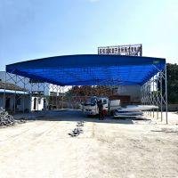 长宁区户外大型活动伸缩蓝色雨棚布厂家_定做移动式推拉遮阳雨蓬