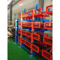 伸缩悬臂式货架直销厂家 山东棒材存储 钢管货架结构 4吨悬臂架