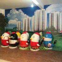 卡通鸡玻璃钢雕塑 上海厂家树脂摆件定制