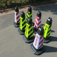 请勿泊车告示牌 禁止停车牌 交通路锥 塑料反光方锥 雪糕筒路障锥