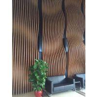 广州厂家定制木纹转印铝方通 弧形焊接铝方通 幕墙波浪形铝方通
