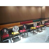 倍斯特古典中式金属椅主题中餐厅咖啡厅厂家定制