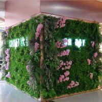 深圳门头仿真绿植墙 人工植物墙假草皮吊兰门头工艺 免费设计效果图