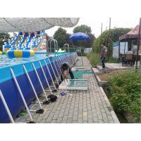 汽包水池配水滑梯设备购买 公园的水滑梯水世界哪里买 夏天专用支架泳池价格