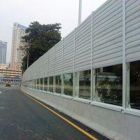 4米高声屏障设计 百叶型隔音板材质 配带立柱尺寸