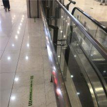 耀恒 专业生产地铁商业区 大型商城不锈钢双钢板立柱玻璃栏杆