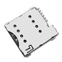 东莞 SOFNG SIM-002 尺寸:17.2mm*15.36mm*1.38mm SIM卡连接器