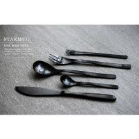 银貂 304 金色拉丝不锈钢刀叉勺 日本风家居 哑光西餐刀叉勺餐具