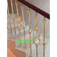 奢华尊贵艺术装饰纯铜镂空楼梯护栏