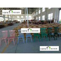 清华大学餐厅桌椅 学校食堂实木桌椅生产厂家 韩尔简约品牌