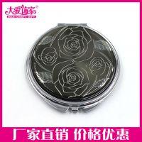 上海促销礼品化妆镜 新款创意图案贴纸随身折叠镜子双面可LOGO设计