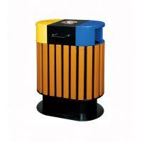 昆明户外木条垃圾桶,分类垃圾桶,塑料垃圾桶,公园椅,垃圾桶厂家