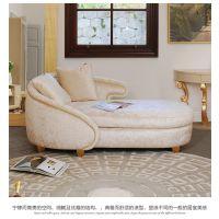齐居置家欧式沙发实木沙发组合简欧沙发布艺绒沙发套装客厅家具