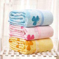 厂家直销中国结竹纤维毛巾被三叶草印花毛巾被M016批发一件代发