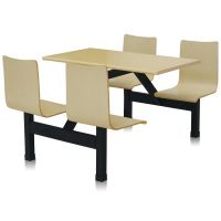 工厂直营全新钢木餐桌椅