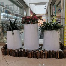 小区楼盘广场种植花盆容器 园林景观花盆 广州仿砂岩欧式花钵