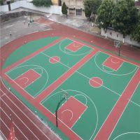 连平村委会彩色篮球地场施工 柏克防滑运动场材料批发 丙烯酸球场涂料