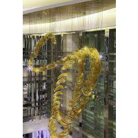润林泉定制酒店高端玻璃飞龙艺术灯 瓢琉璃吊灯