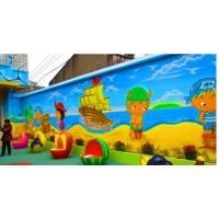 河北石家庄幼儿园室内外墙体彩绘、墙体绘画